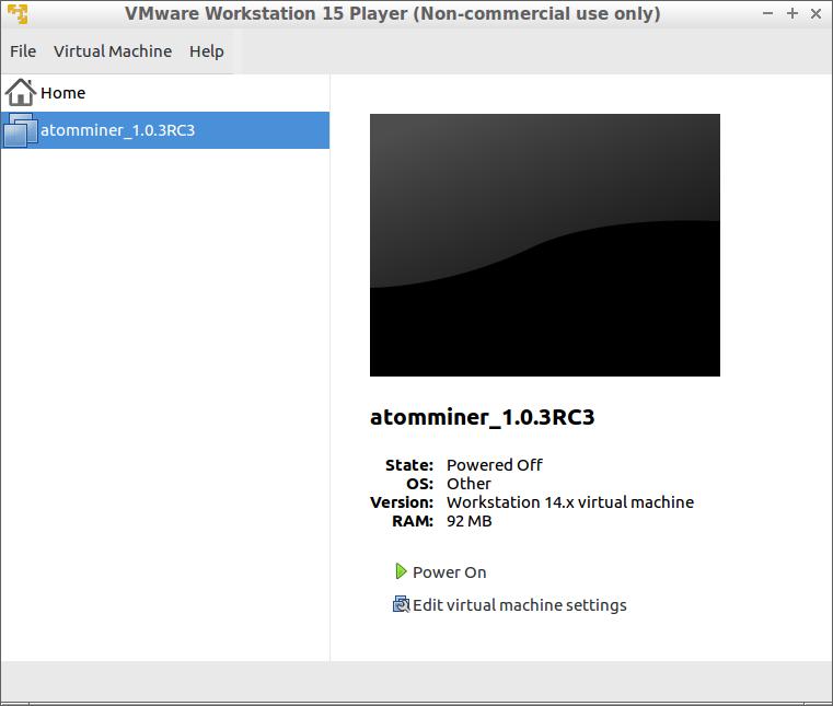 VMWare Install - AtomMiner Documentation Project